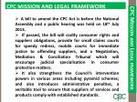 cpc mission and legal framework1