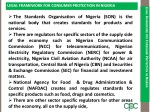 legal framework for consumer protection in nigeria