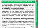 nigeria s antitrust and consumer protection bill