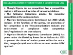 regulating competition without a competition law