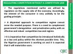 regulating competition without a competition law3