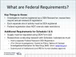 what are federal requirements
