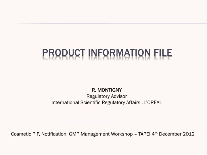 product information file n.