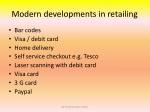 modern developments in retailing
