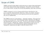 scope of cmmi