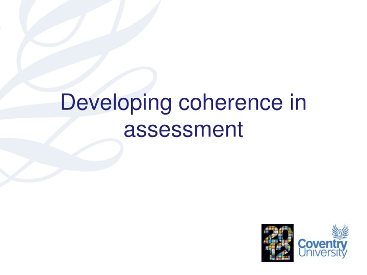 developing coherence in assessment n.