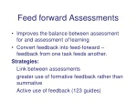 feed forward assessments