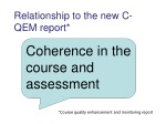 relationship to the new c qem report