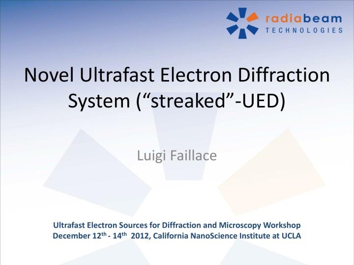 Novel ultrafast electron diffraction system streaked ued