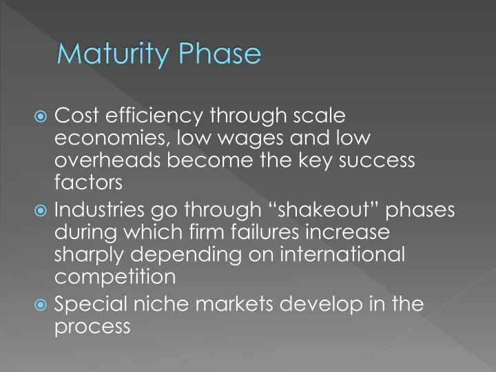 Maturity Phase