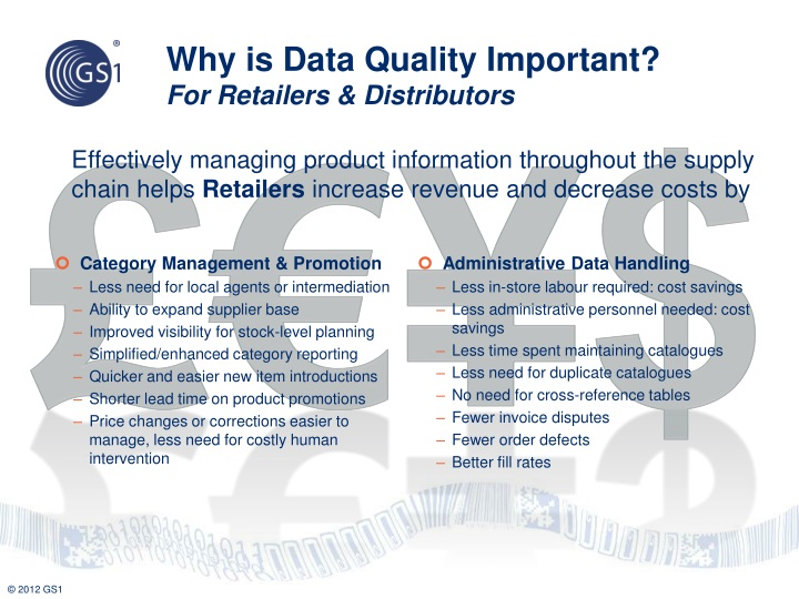 Effectively managing product information throughout the supply chain helps