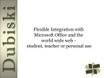 flexible integration with microsoft office and the world wide web student teacher or personal use