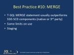 best practice 10 merge