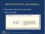 best practice 11 annotations