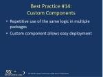best practice 14 custom components