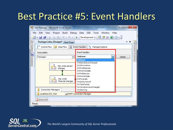 PPT - Top 10 SSIS Best Practices PowerPoint Presentation - ID:1503681