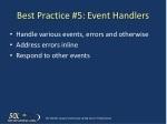best practice 5 event handlers