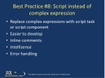 best practice 8 script instead of complex expression