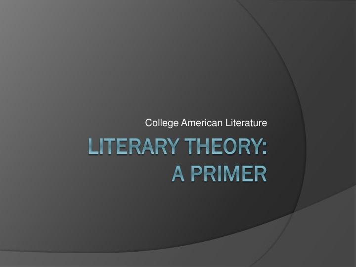 college american literature n.