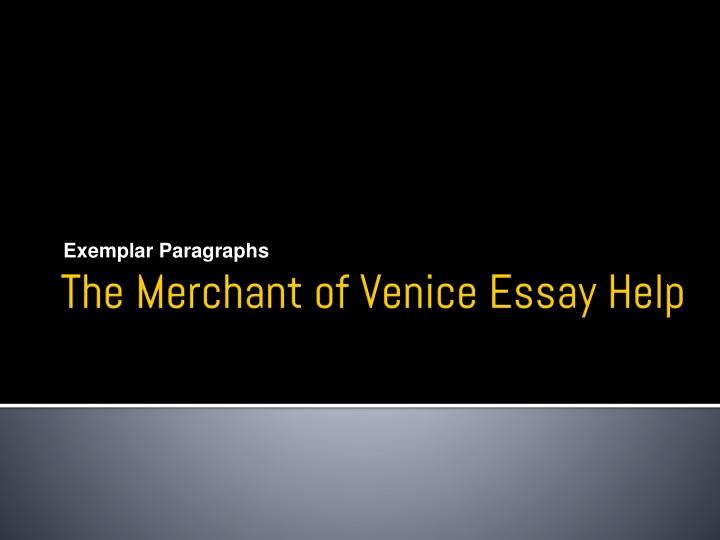 the merchant of venice essay help