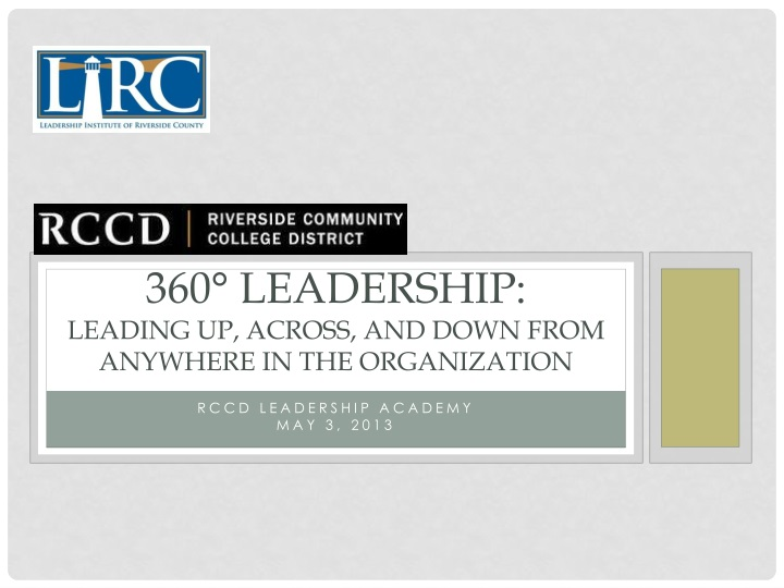 360 leadership leading up across and down from anywhere in the organization n.