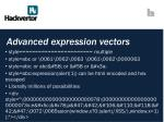 advanced expression vectors1