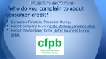 who do you complain to about consumer credit