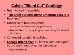 calvin silent cal coolidge