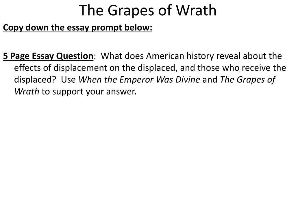 essay grape prompt wrath