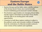 eastern europe and the baltic states