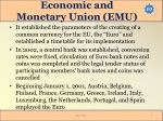 economic and monetary union emu