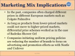 marketing mix implications