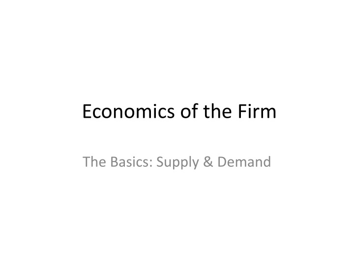 economics of the firm n.