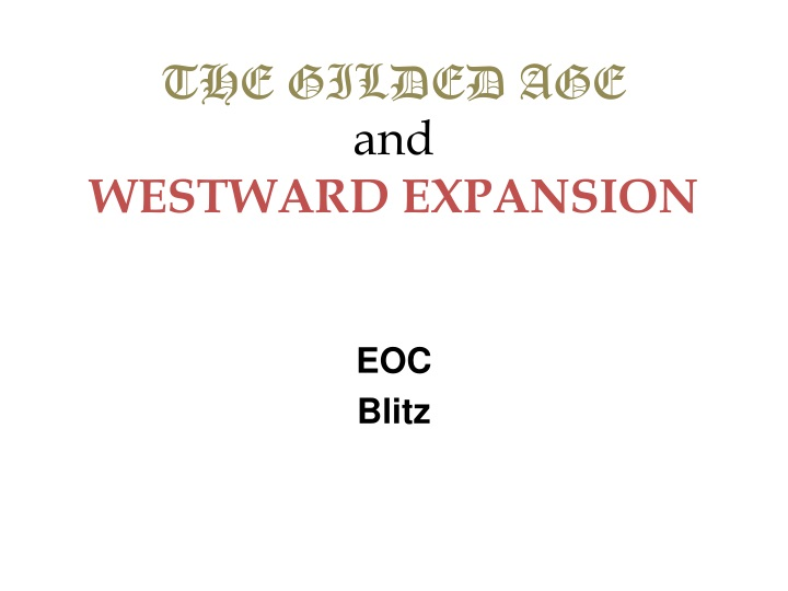 the gilded age and westward expansion n.