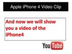 apple iphone 4 video clip