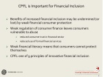cpfl is important for financial inclusion
