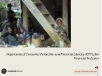 importance of consumer protection and financial literacy cpfl for financial inclusion
