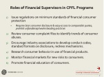 roles of financial supervisors in cpfl programs