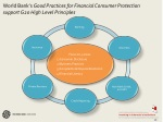 world bank s good practices for financial consumer protection support g20 high level principles