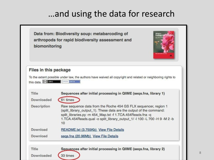 …and using the data for research