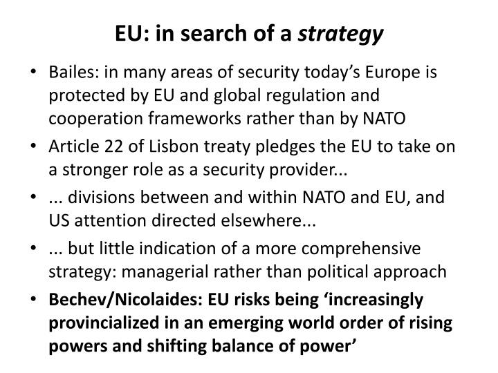 EU: in search of a