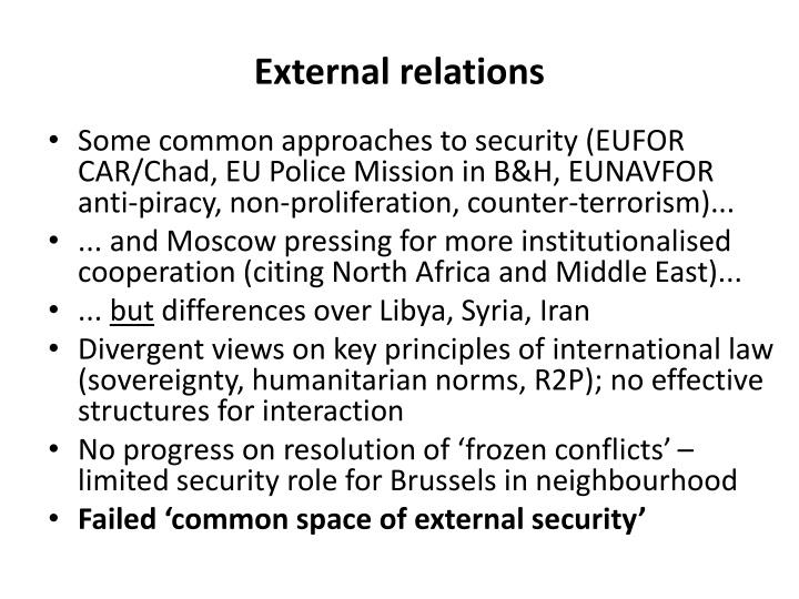 External relations