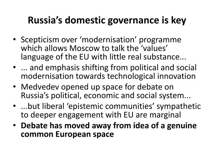 Russia's domestic
