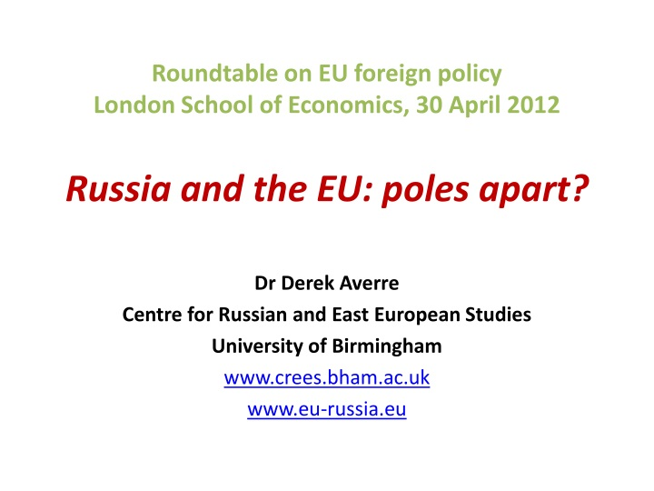 Roundtable on EU foreign policy