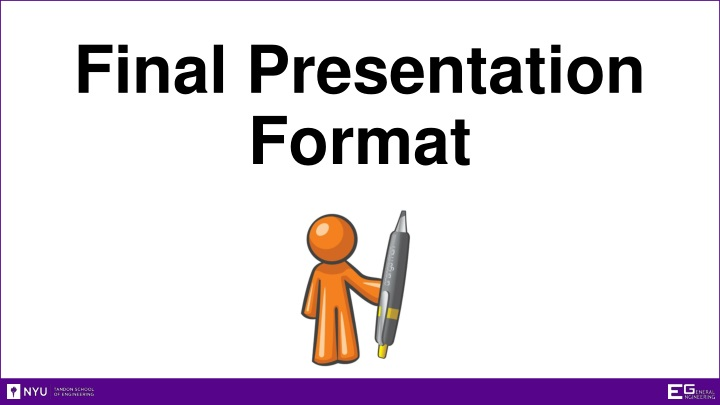 final presentation format n.