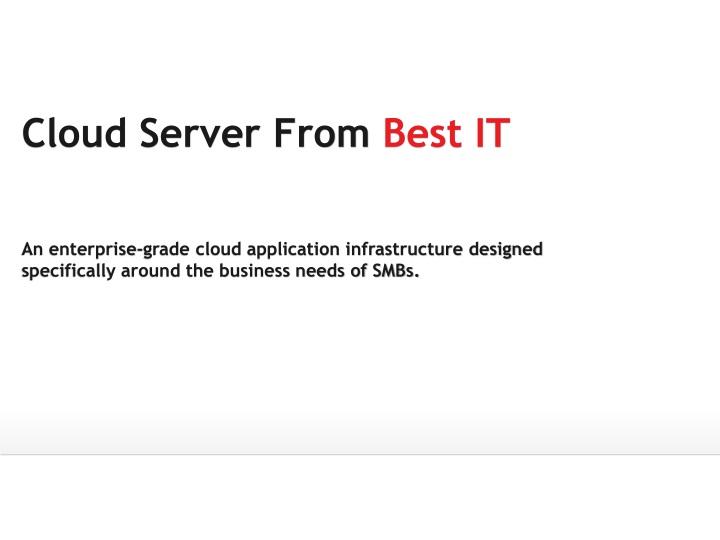 cloud server from best it