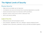 the highest levels of security