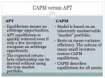 capm versus apt