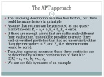 the apt approach