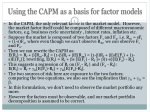 using the capm as a basis for factor models